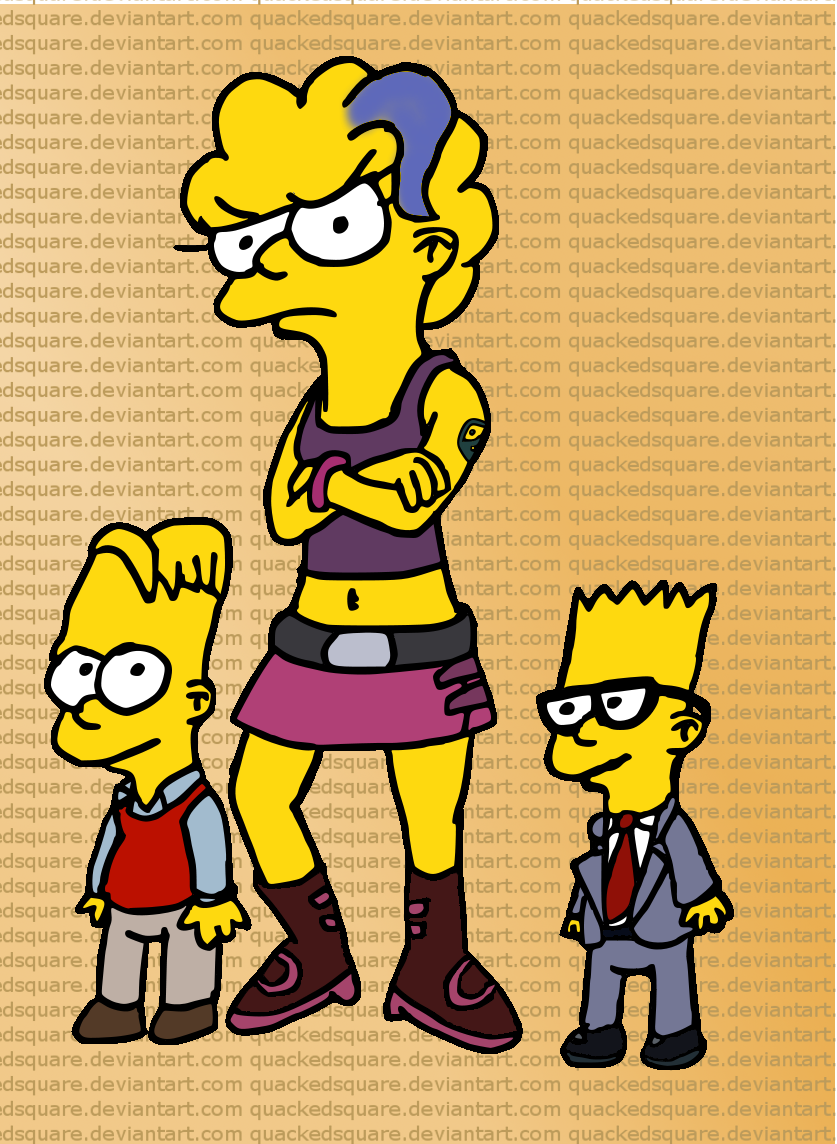 The Simpson grandkids by Quacksquared
