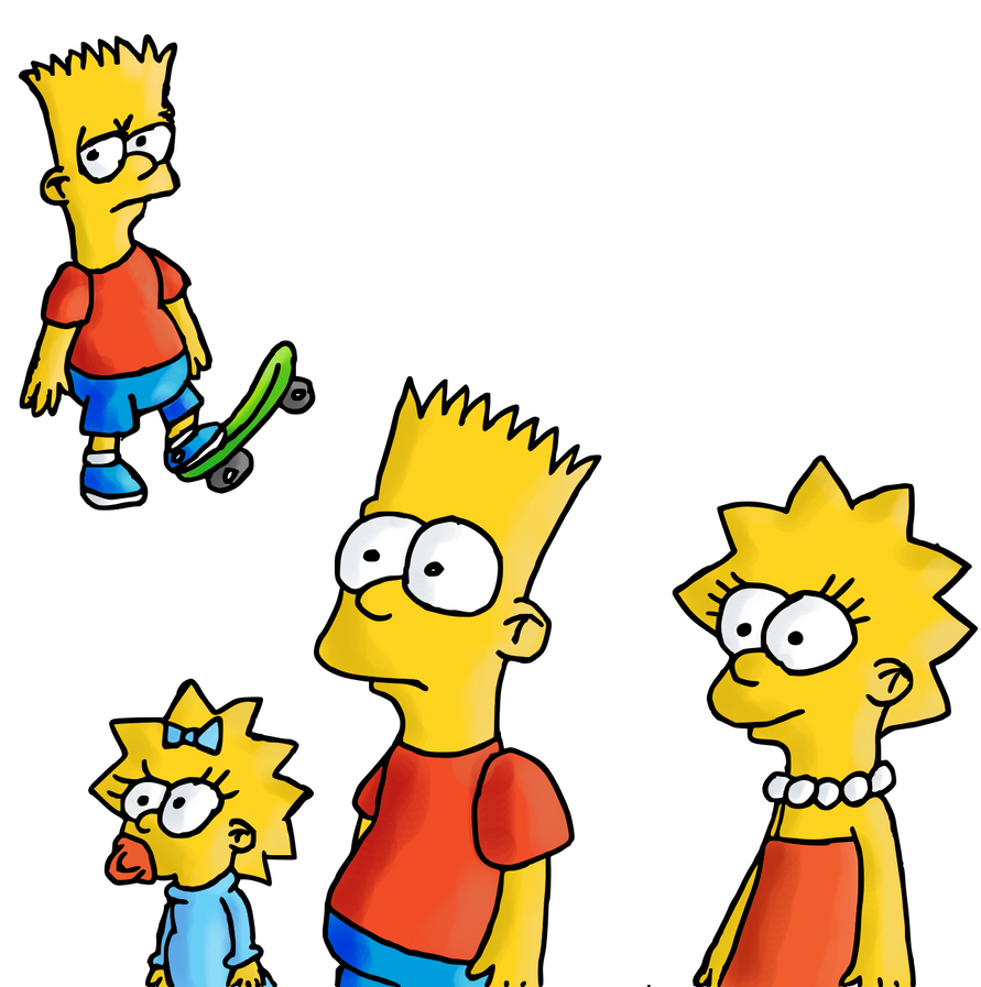 Just the Simpson kids by Quacksquared