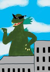 Wonky 90s Godzilla