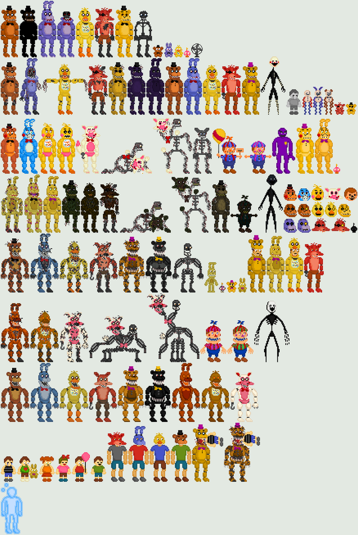 Five Nights at Freddy's Pixel Art by Shaddow24