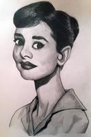 Audrey Hepburn by Miltage