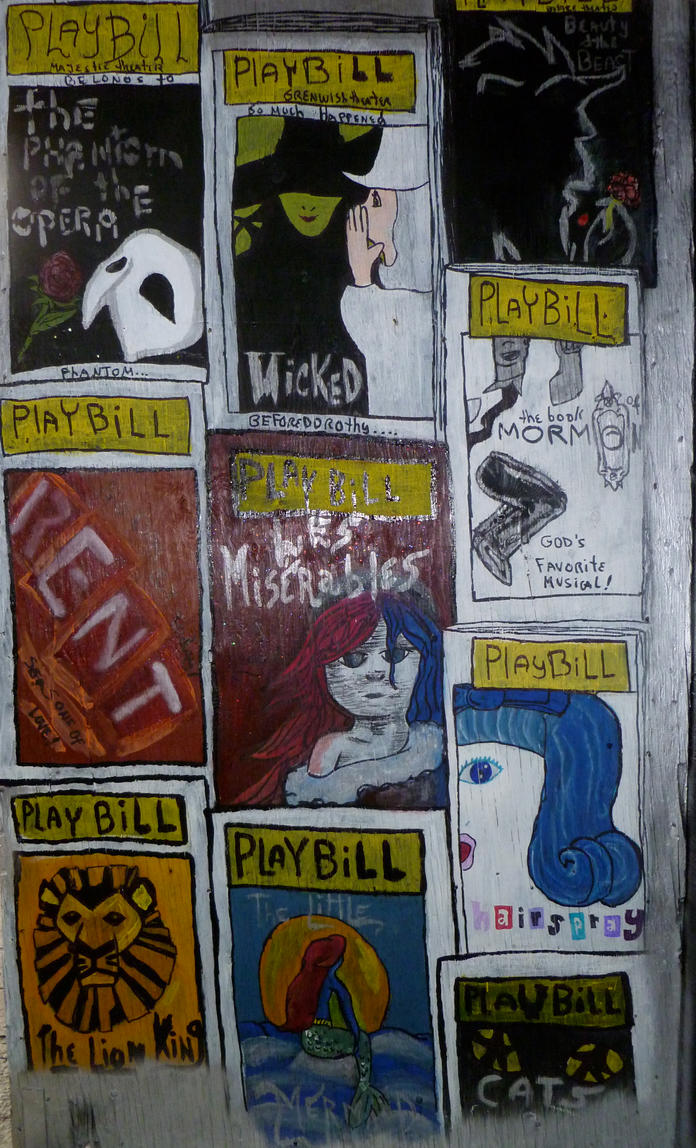 BRoadway PLAYBILLS Wall by jay3jay