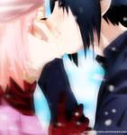 SasuSaku: snow kiss