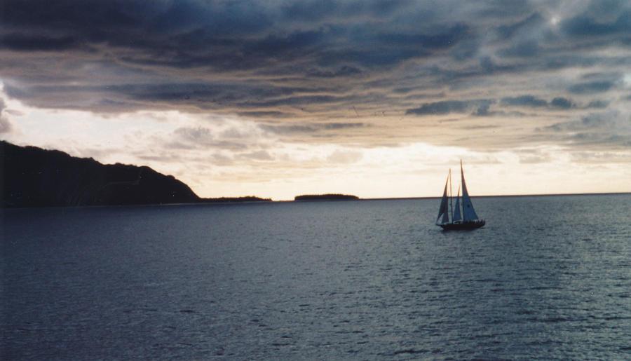 Sails at sunset by JulianasGrandma