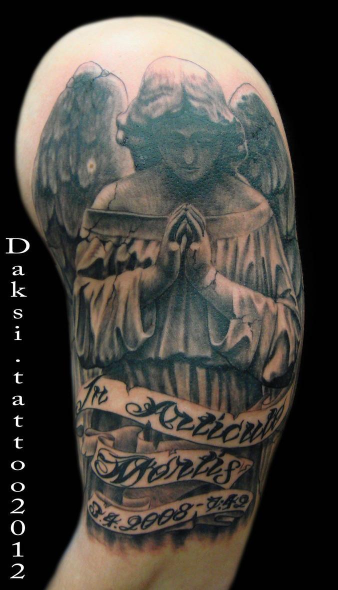 Half Sleeve Angel Tattoo