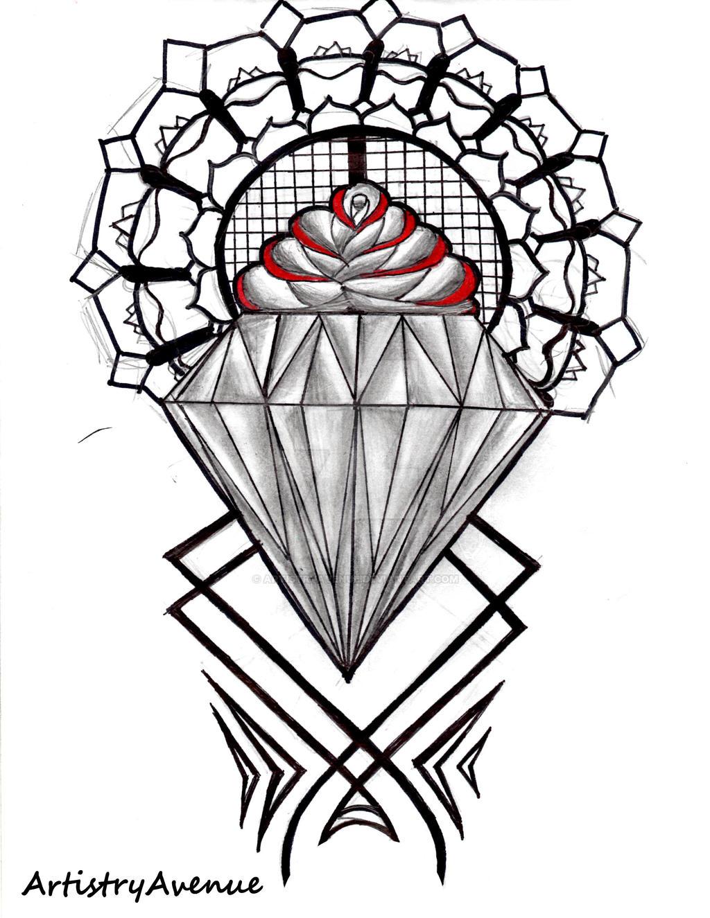 diamond tattoo by artistryavenue on deviantart