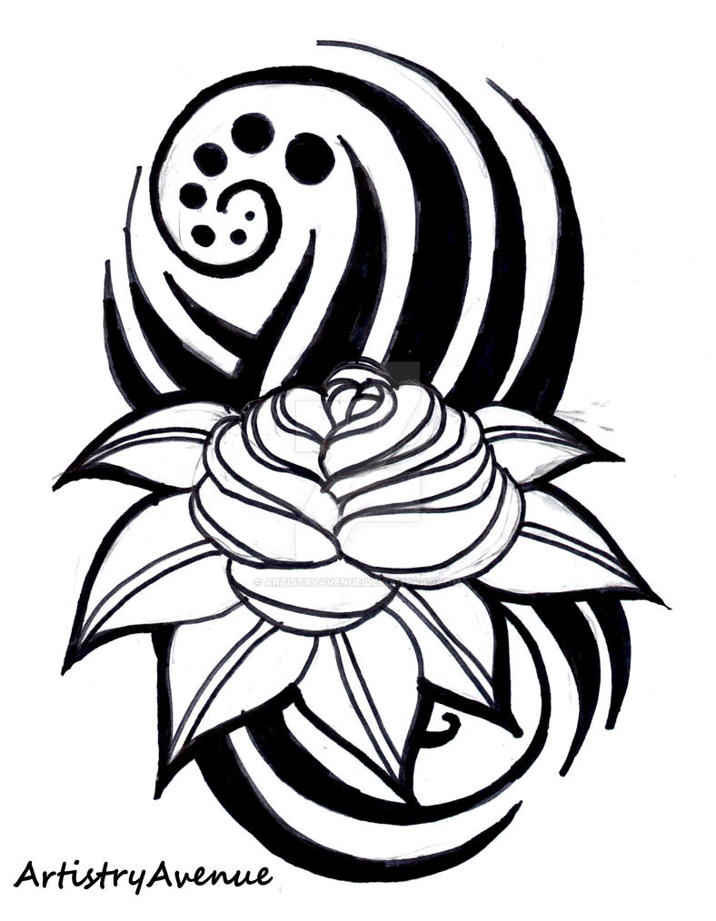 a229d5ed8 Rose Tribal Tattoo by ArtistryAvenue on DeviantArt