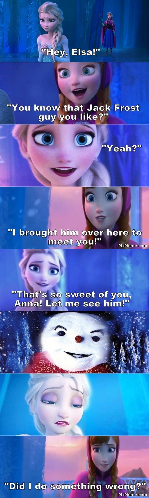 Elsa Meets Jack Frost