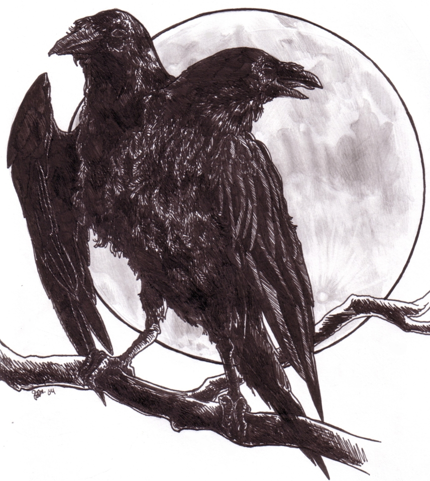 Two Headed Raven By Jamberry On Deviantart