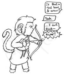 Monkey Valentines Day - BnW by Sith-Witch