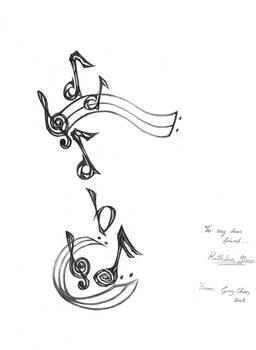 Tattoo Design: Music Note