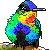 Free Fiery Throated Hummingbird Icon by Anti-Dark-Heart