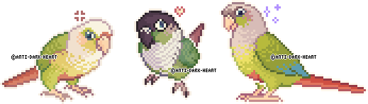 Bird Sprites by Anti-Dark-Heart
