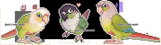 Bird Sprites by Anti-Dark-Heart