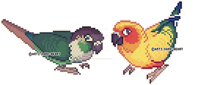 Bird Sprites 2 by Anti-Dark-Heart
