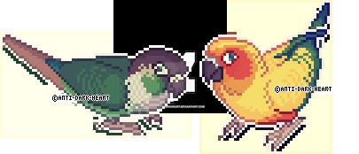 Bird Sprites 2 by AntiDarkHeart