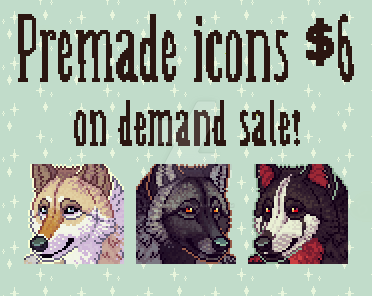 Premade Icon Commissions V2 -  CLOSED by Anti-Dark-Heart
