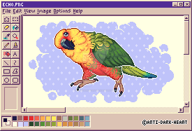 Echo MS Paint Sprite - Commission by Anti-Dark-Heart