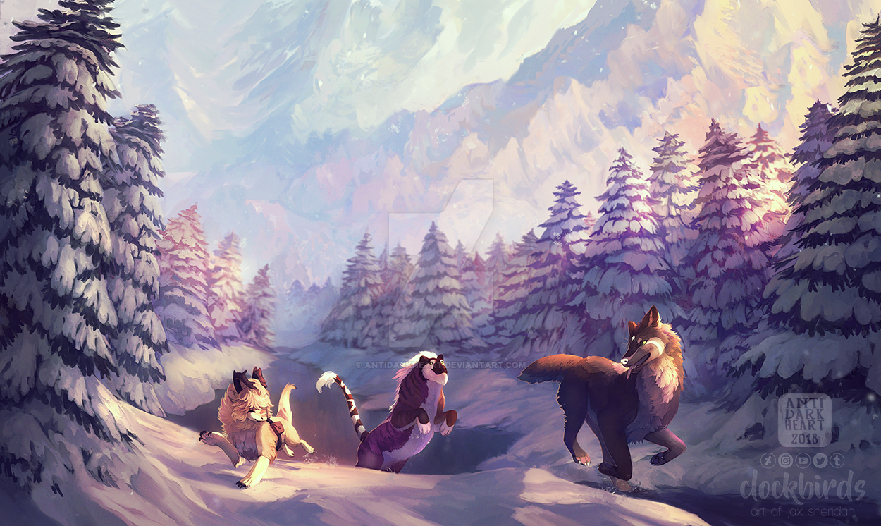 Winter Lake Collab - Commission by AntiDarkHeart