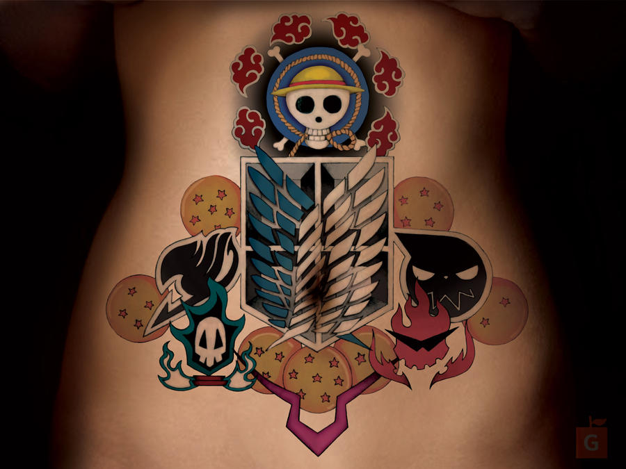 anime tattoo by gs deuce comm by proto jekt on deviantart. Black Bedroom Furniture Sets. Home Design Ideas