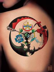 Anime Tattoo by GS _ SHOJO ARMS