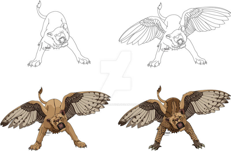 Creative Griffin WIP (Contest upload) by MasonIllustration