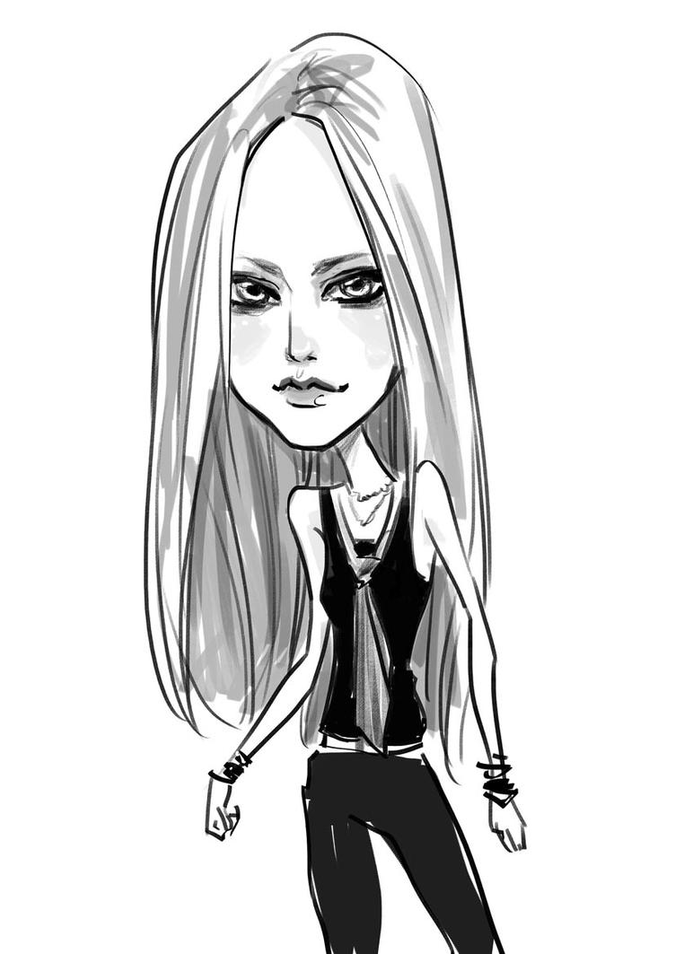 avril lavigne caricature? by sscindyss