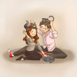Couples and their cats~