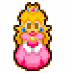 Pixel Princess Peach by Max2809
