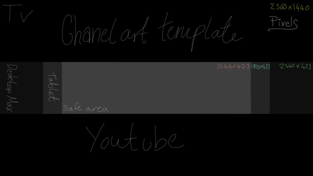 Template youtube channel art template by haiyaku art on for Youtube channel picture template