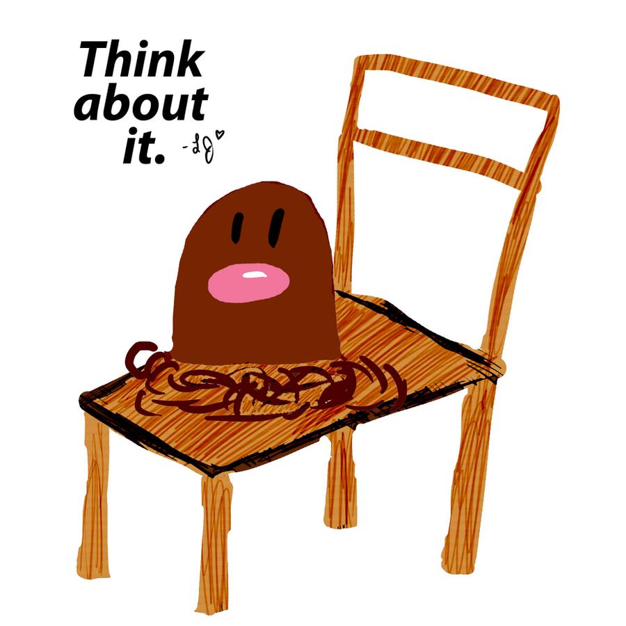 Diglett on a Chair by TheSunbirdDiglett Evolution