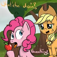 Friendshipping - A 'helping' hoof by CradeElcin