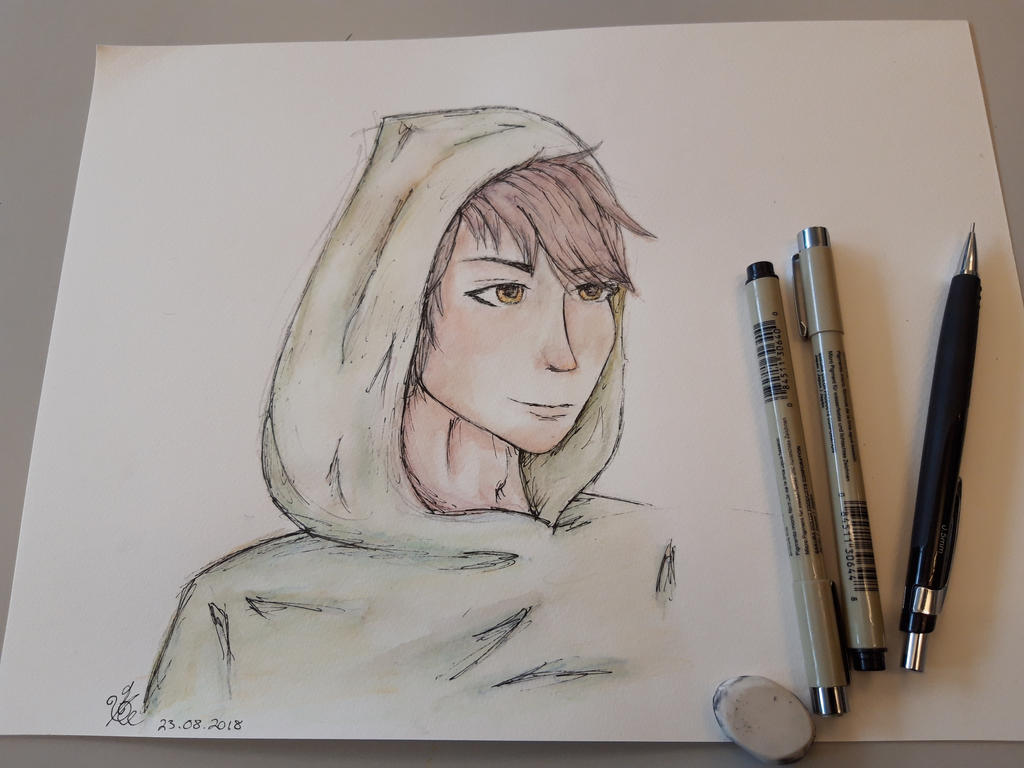 Boy with hoodie by OpsidianStar64