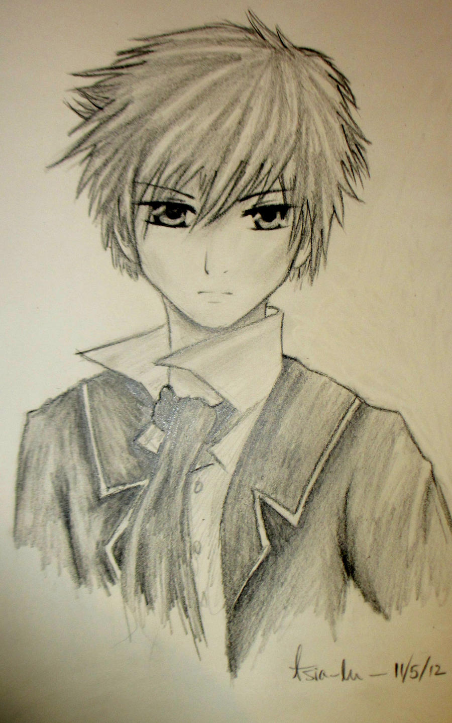 Anime boy roe by yourtoast on deviantart for Cool easy anime drawings