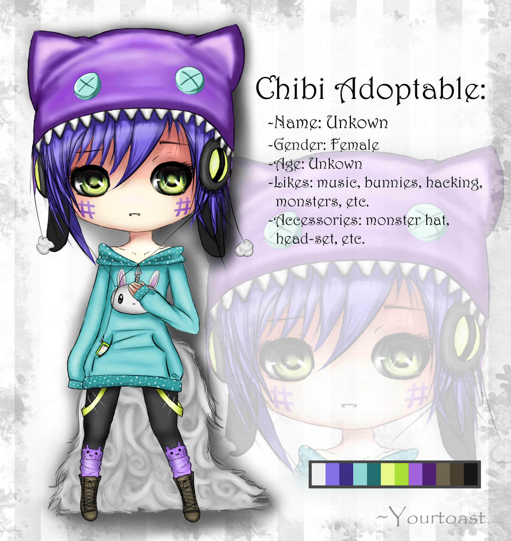 NEW! Chibi Adoptable [CLOSED!] by Yourtoast