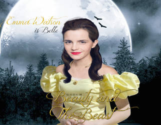Beauty and The Beast-Emma Watson as Belle by Virtual-Waster-Art