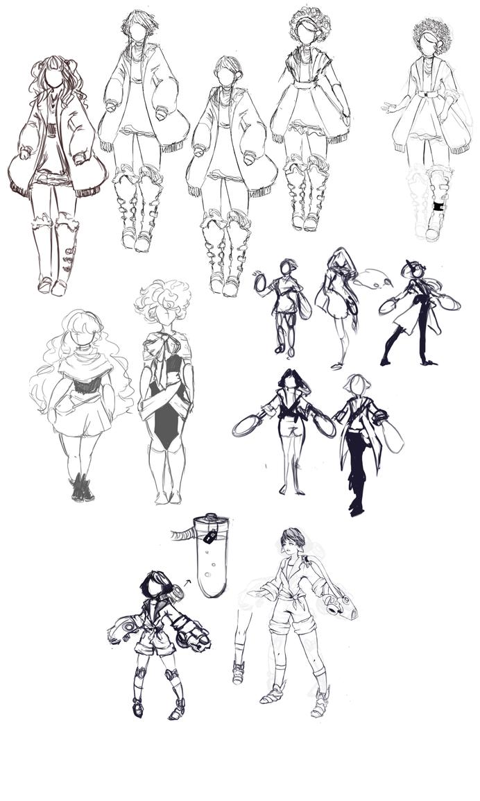 Random Sketches Of Females by Eushey