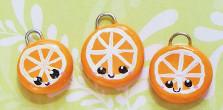 Orange Slice Charms by xstrawberrylove