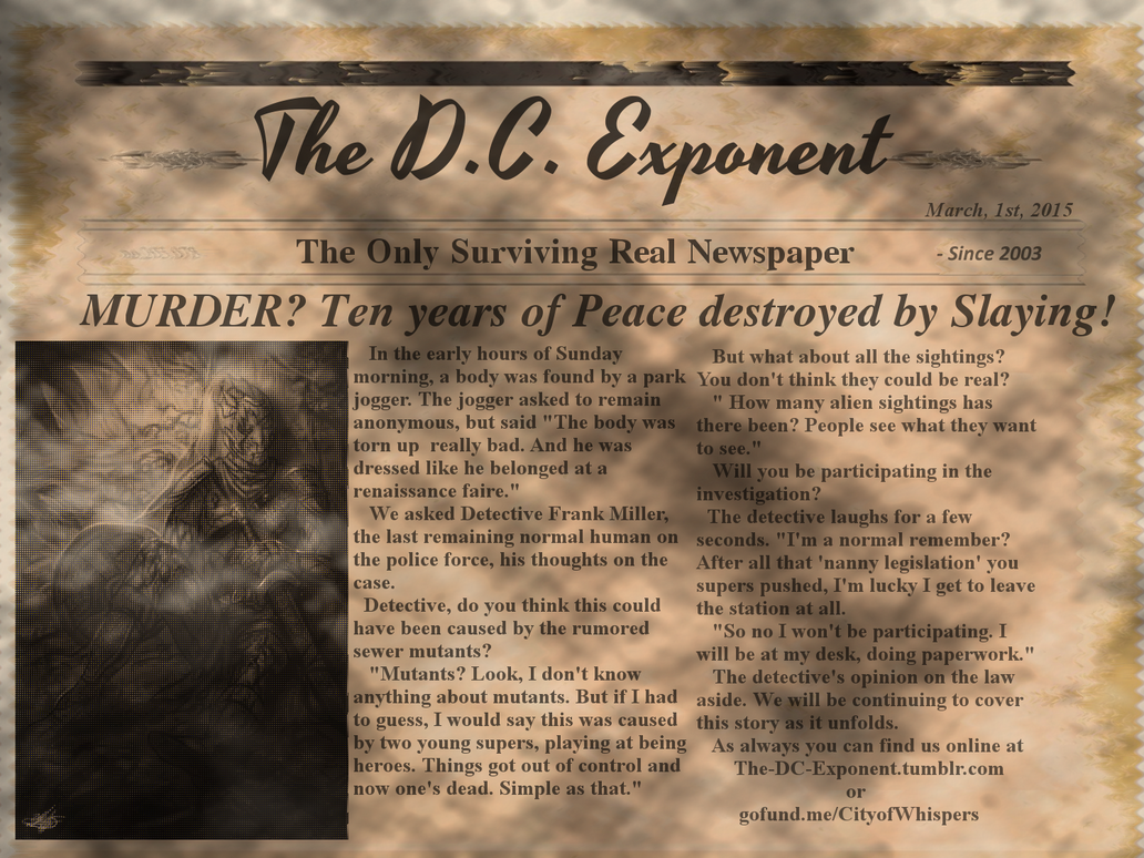 MURDER? Ten years of Peace destroyed by Slaying! by lokiie1984