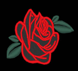 City of Titans Black Rose Patch Design Preview by lokiie1984
