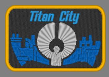 City of Titans Titan City Patch Design by lokiie1984
