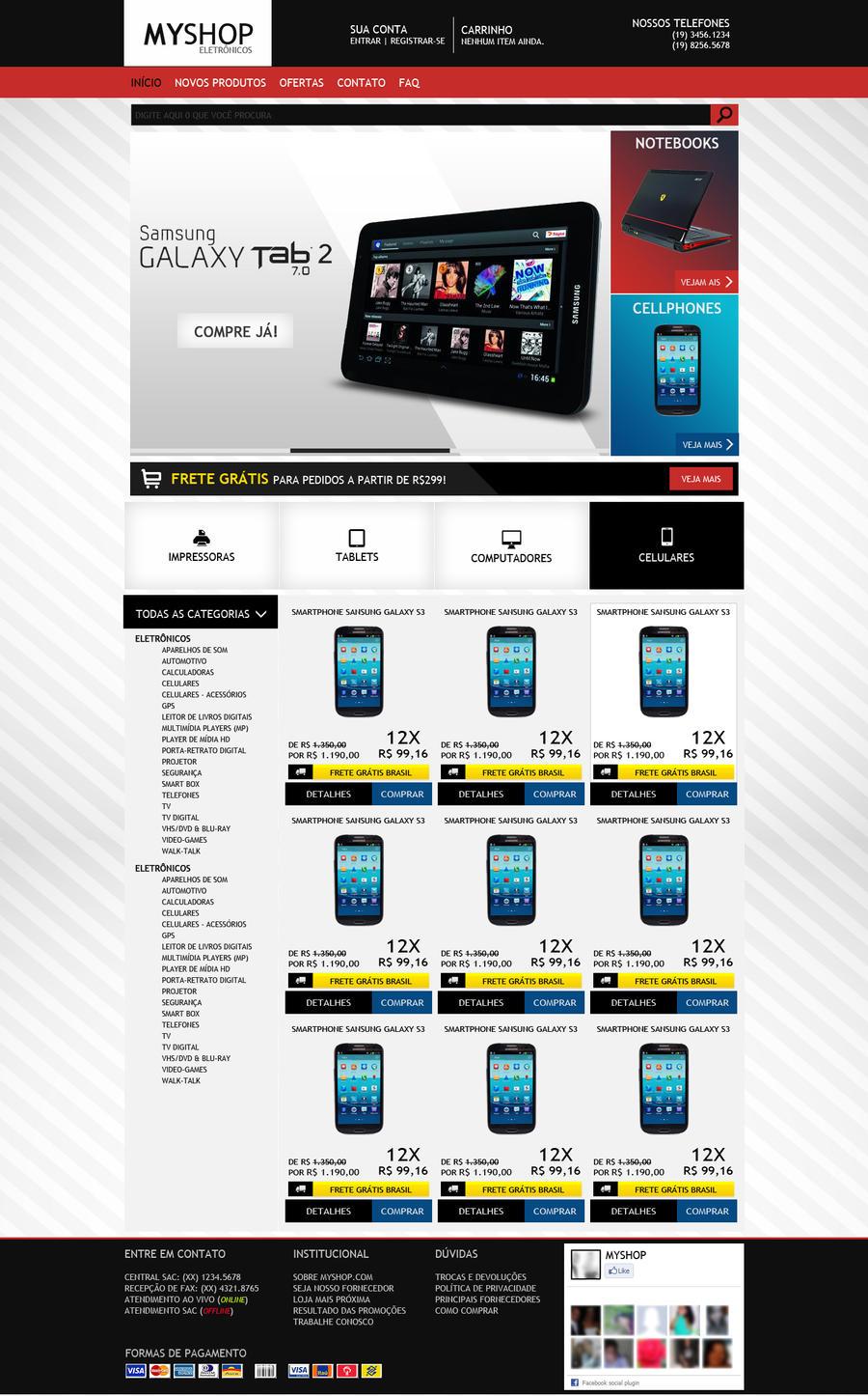 E-commerce layout by dpedoneze on DeviantArt