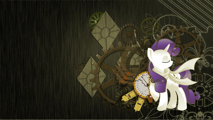 Rarity Steampunk wallpaper by Ultimiant