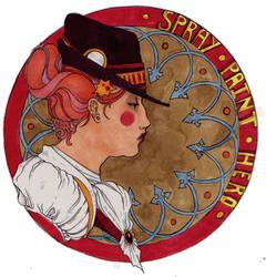 Art Nouveau Victorian Portrait by Subverted