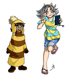 Puppertale -  Human Kid (Monster Kid) And Temmie