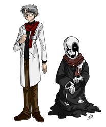 Puppertale - W. D. Gaster and Mystery Man