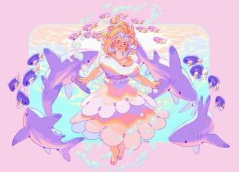 The Shark Whisperer by Astral-Requin