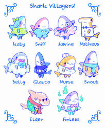 Shark Villagers Ideas! by Astral-Requin