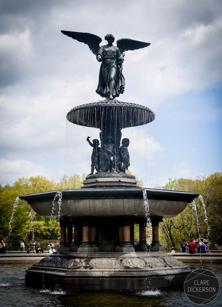 Bethesda Fountain in Central Park by ClareDickerson