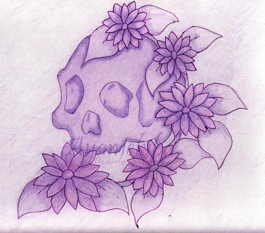 skull and flowers by ayamekiba on DeviantArt